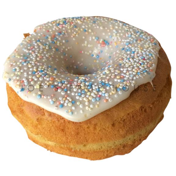 Vanilla Icing Sprinkle Donut Dessert Prop