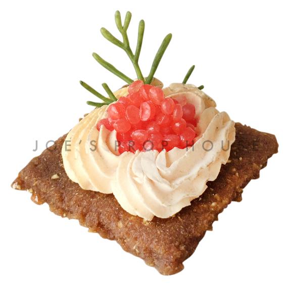 Red Caviar Pâté Gravlax Cracker Food Prop