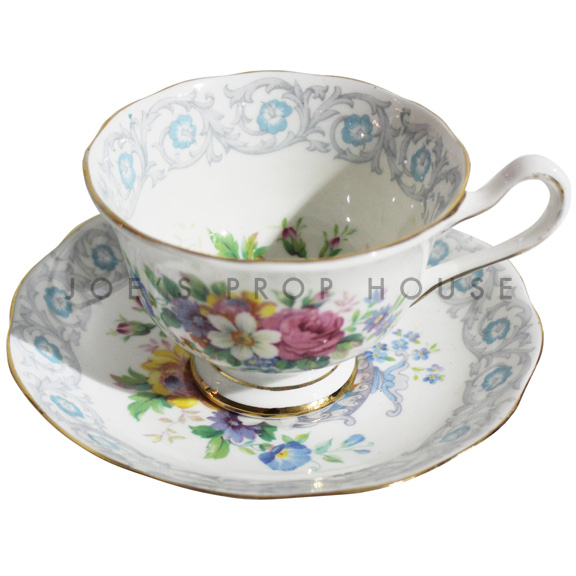 Tasse à thé et soucoupe florale Camille