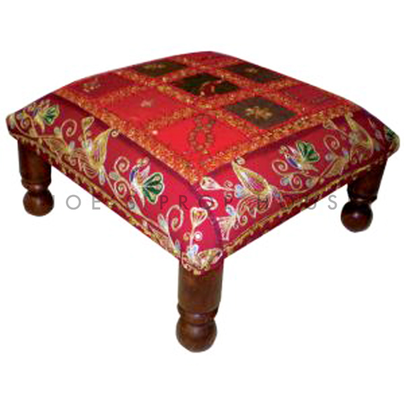 Reeda Patchwork Low Bench Red