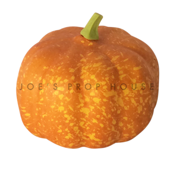 Artificial Mini Round Spotted Orange Pumpkin