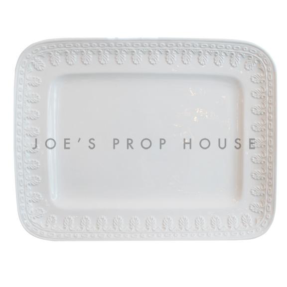 Florence Rectangular Porcelain Platter White