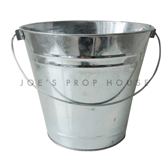 Galvanized Metal Bucket w/Metal Handle
