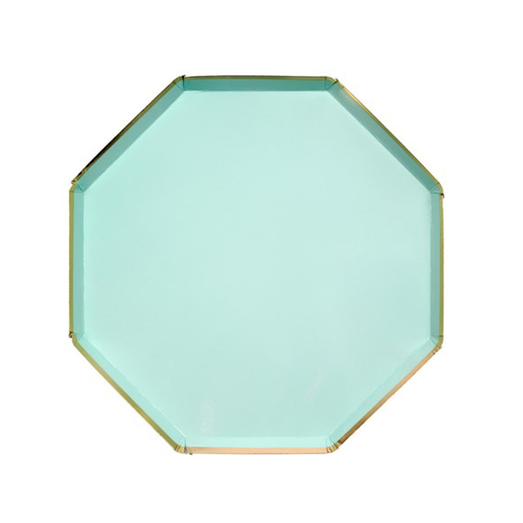 BUY ME / NEW ITEM $10.99 each Mint Green Octagonal Large Paper Plates - 8 Pack