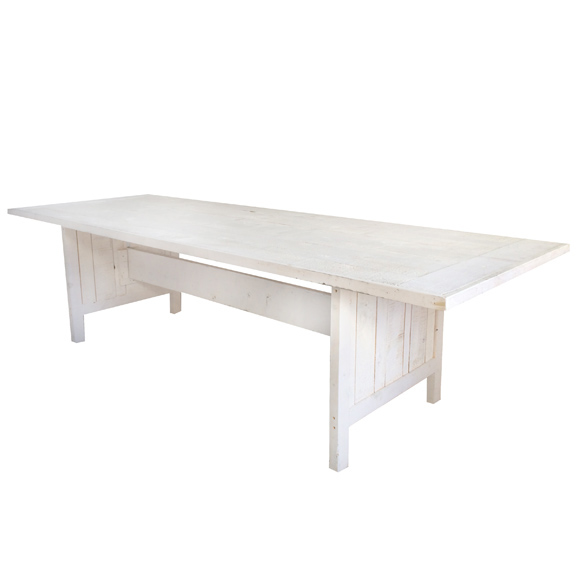 Whitewash Farm Table White L108in x D39in x H30in