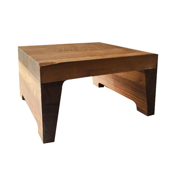 Butcher Block U-Shape Wood Riser Brown