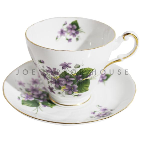 Tasse à thé et soucoupe florale Ashley