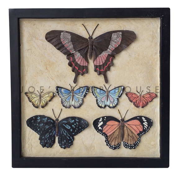 Square 3D Butterfly Collection Wall Art