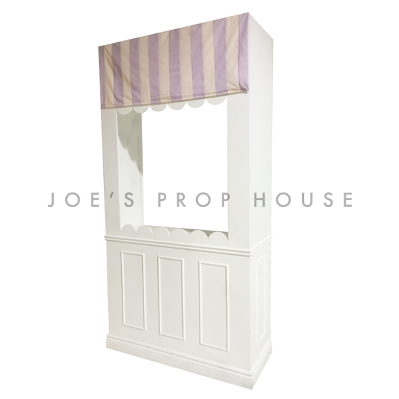 Candy Shop Wall Station w/Striped Pastel Awning