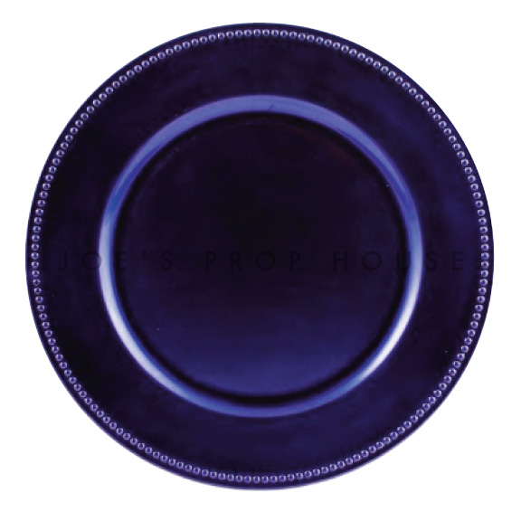 BUY ME / USED ITEM $1.99 each Royal Purple Beaded Charger Plate