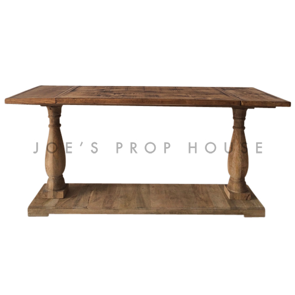Reclaimed Console Table w/6ft Plank Top