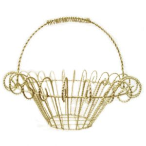 Laura Metal Wire Basket Ivory