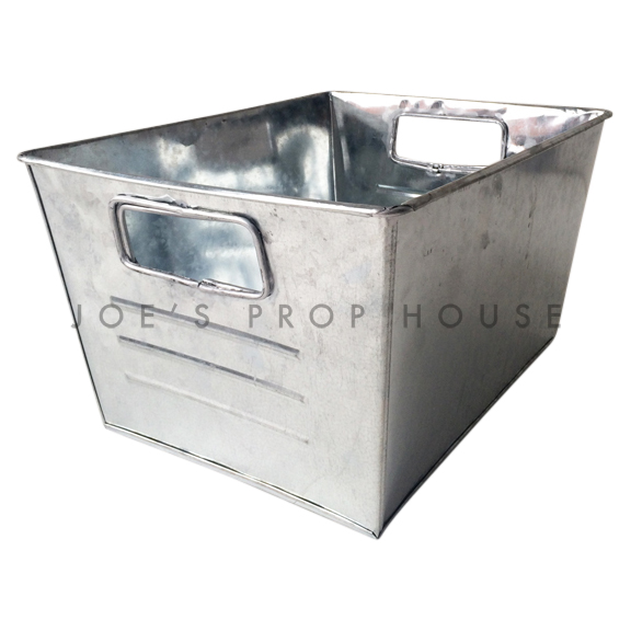 Rectangular Galvanized Metal Bucket petit