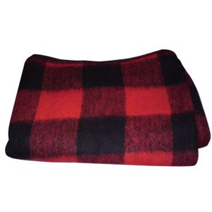 Red Buffalo Plaid Wool Blanket