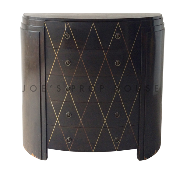 Art Deco Chest of Drawers Dark Brown