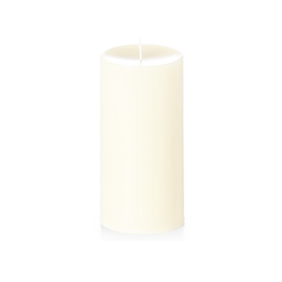 Unscented Ivory Pillar Candles 4in x 8in