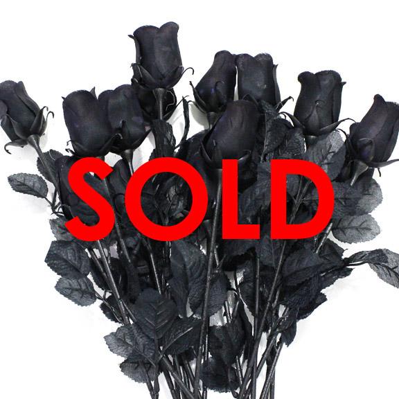 BUY ME / USED ITEM $2.99 each Artificial Long Stem Rose Black