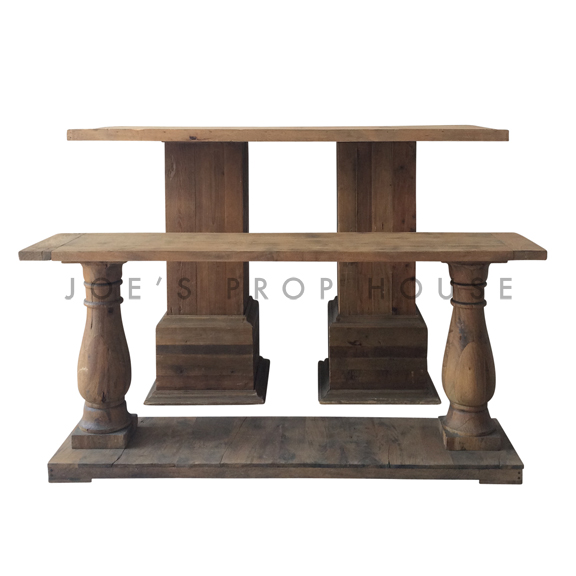 Two-Tier Reclaimed Console Table