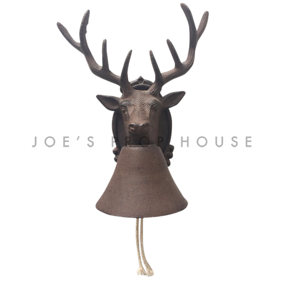 Cast Iron Deer Head Bell