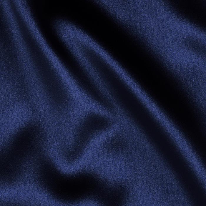 Navy Blue PEAU DE SOIE Tablecloth Round 132in