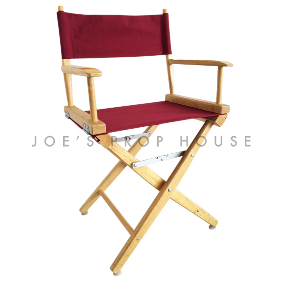 Burgondy Director Chair w/Wood Frame