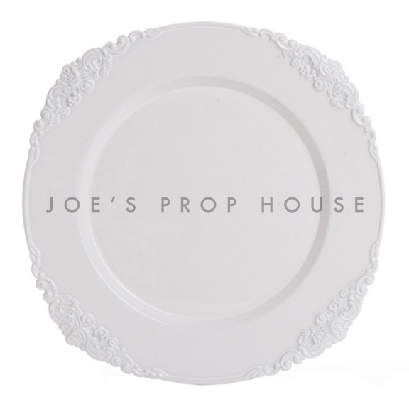 White Ornate Charger Plate