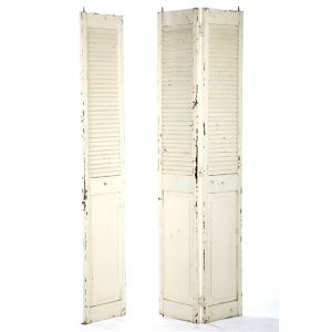 Distressed Shutter Doors Ivory