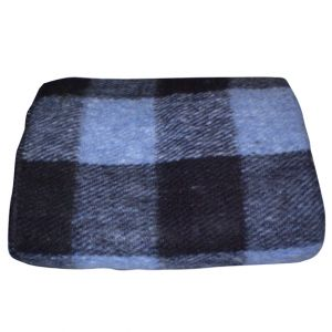 Blue Buffalo Plaid Wool Blanket