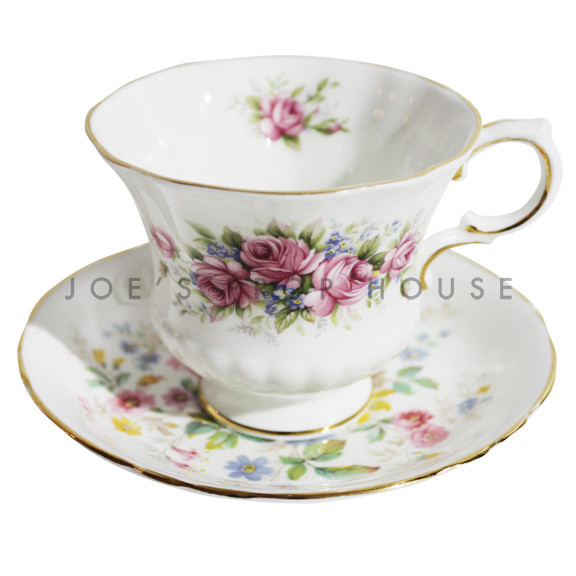 Jessica Floral Teacup and Saucer