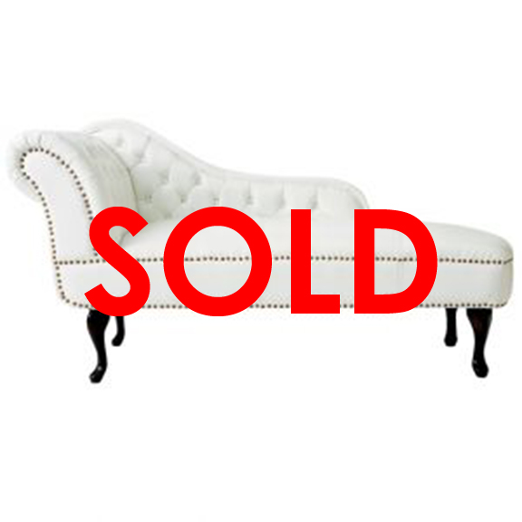 BUY ME / USED ITEM $350.00 each Leila Tufted Chaise Lounge White W58.75in x D25.25in x H35in