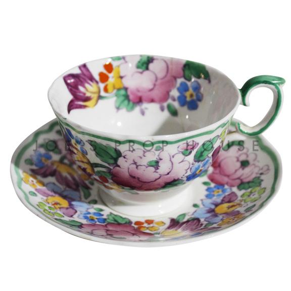 Tasse à thé et soucoupe florale Maybelle
