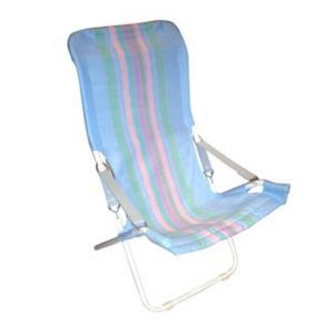 Meygen Striped Folding Beach Chair