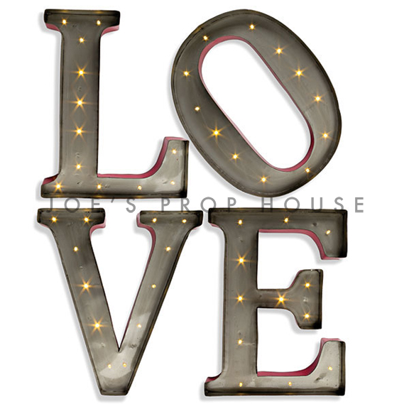 L-O-V-E 15in Metal Marquee Letters