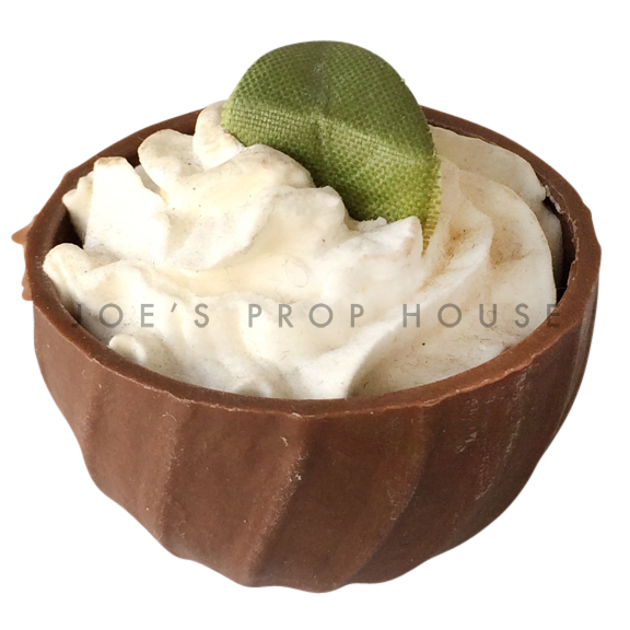 Vanilla Mousse Chocolate Cup Dessert Prop