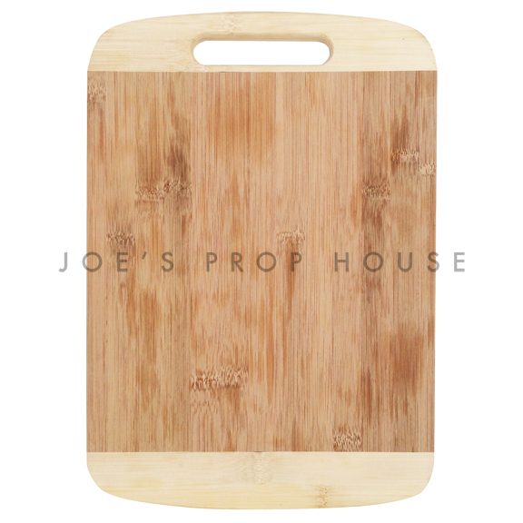 Two-Tone Bamboo Serving Board w/Cutout Handle