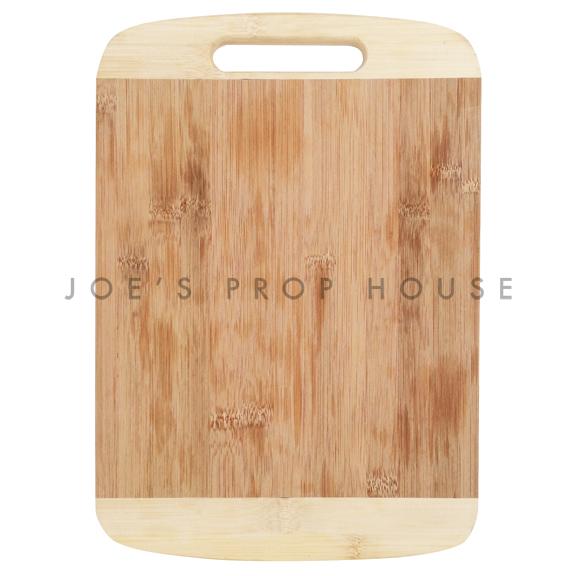 Planche à servir en bambou à deux tons avec poignée découpée