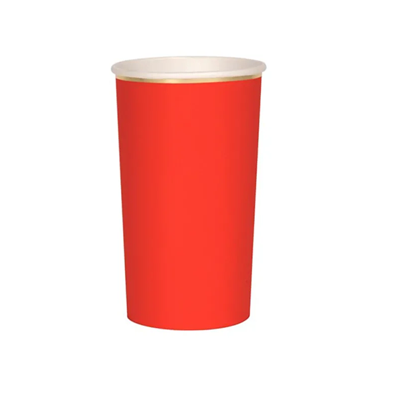 BUY ME / NEW ITEM $10.99 each Red High Ball Paper Cups - 8 Pack