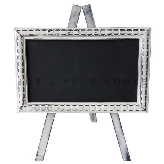 Whitewash Easel Stand Chalkboard