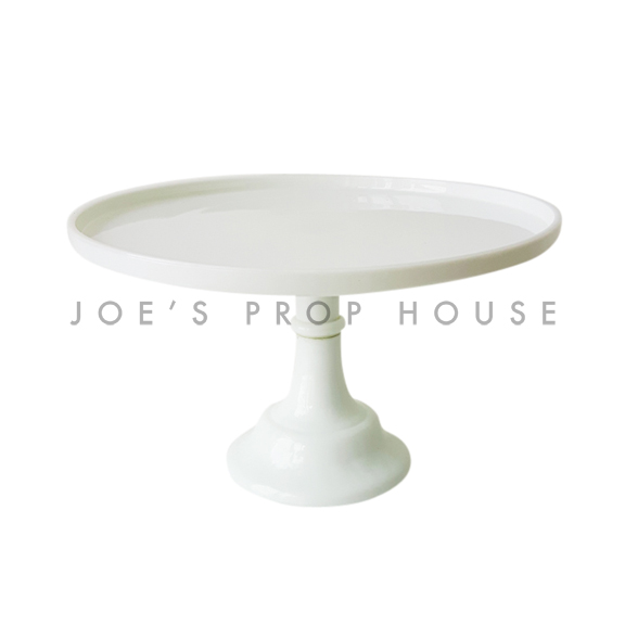 Milk Round Pedestal Cake Stand SMALL White D10in