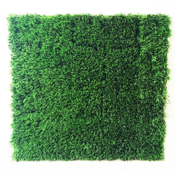 Artificial Long Blade Grass Square Panel Green