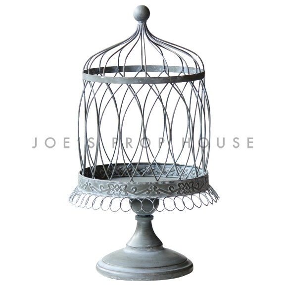 Everly Metal Cage Cake Stand Grey