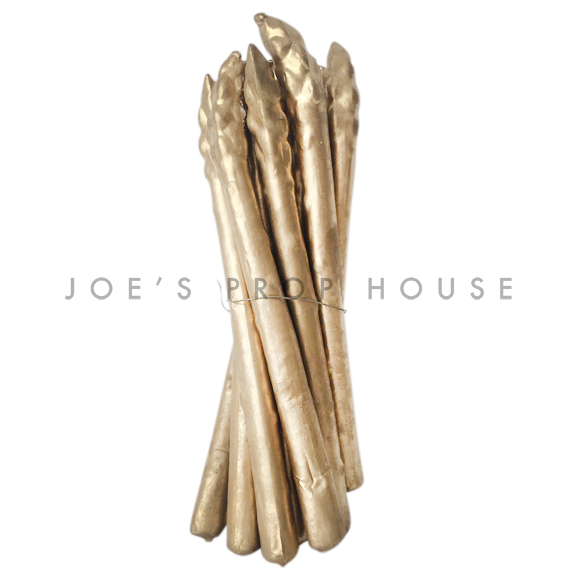 Artificial GOLD Asparagus Bunch