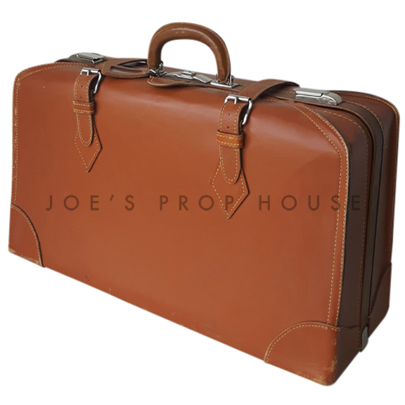 Godfreid Leather Suitcase Moka
