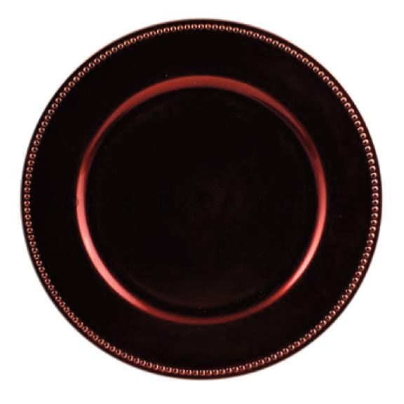 Sous-Assiette Brun Espresso avec Perles