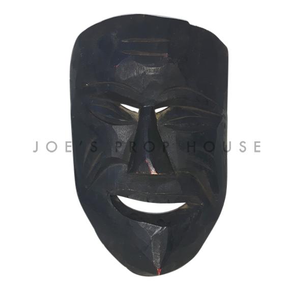 Adusa African Wooden Mask Dark Brown