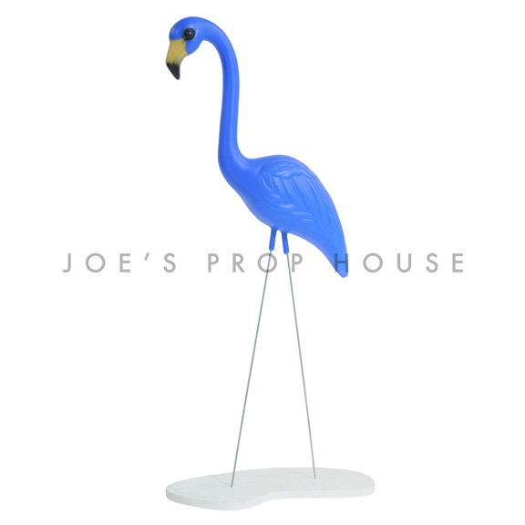 Blue Flamingo w/base