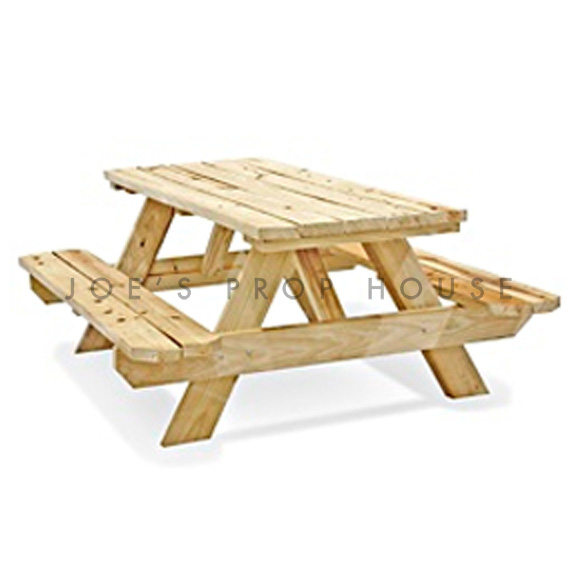Natural Wood Picnic Table L72in x D59in x H29.25in