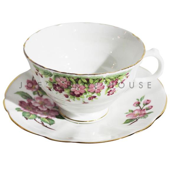 Tasse à thé et soucoupe florale Hillary