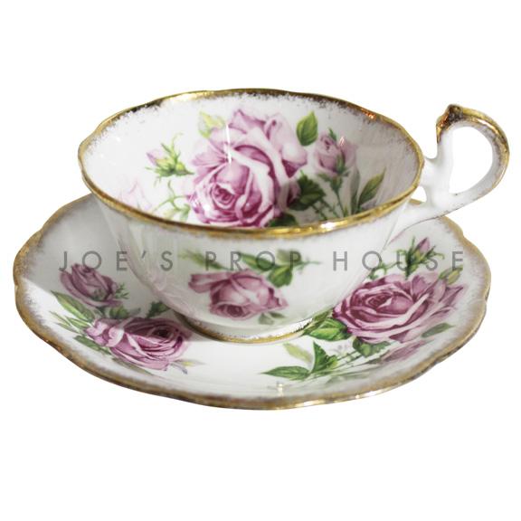 Tasse à thé et soucoupe à fleurs Amanda
