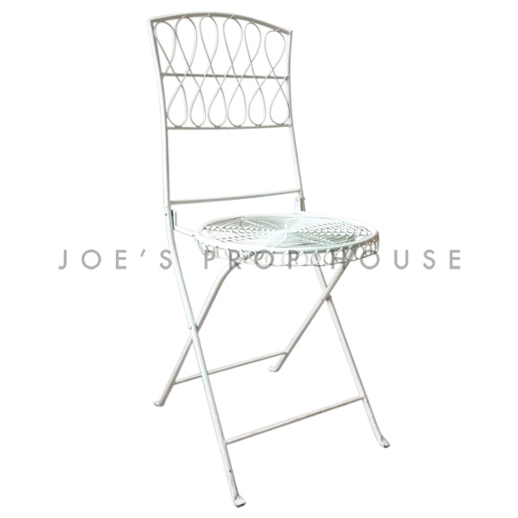 Metal Garden Chair White
